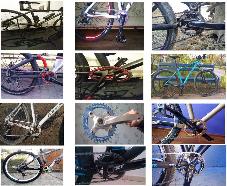 MOTSUV 104BCD - Anillo de Cadena Ovalado para Bicicleta de ...