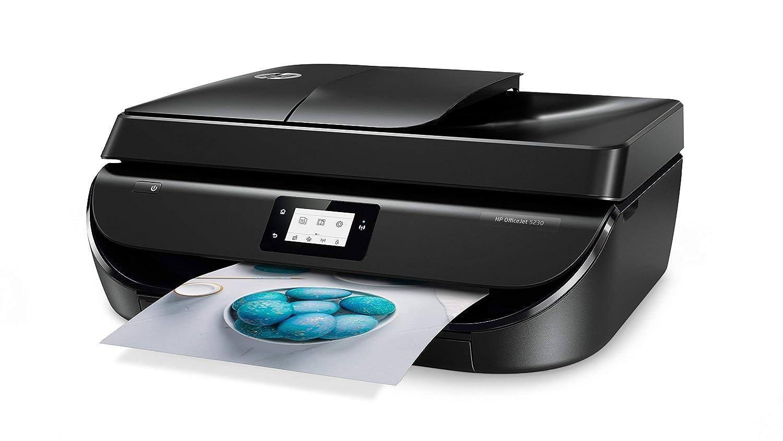 HP Stampanti Office Jet 5230 Stampante Multifunzione con 4 Mesi di Prova Gratuita del Servizio Instant Ink Tri-Color Instant Ink Enrollment Card Cartucce di Inchiostro Giallo, Magenta, Ciano