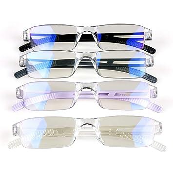 515ececcc03 Amazon.com  4 Pack Blue Light Blocking Glasses