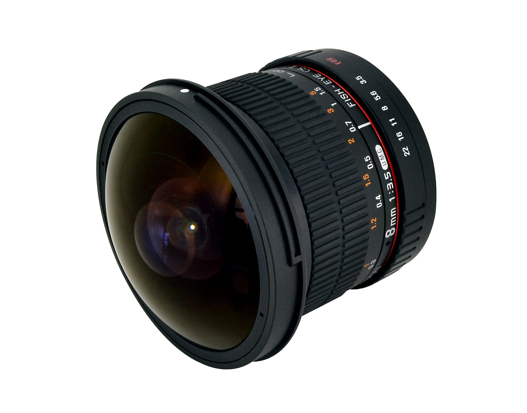 Rokinon HD8M-C 8mm f/3.5 HD Fisheye Lens with Removeable Hood for Canon DSLR 8-8mm, Fixed-Non-Zoom Lens by Rokinon