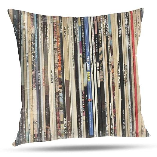 RCXrBFE Funda de Almohada, 50 x 50 cm Classic Rock Vinyl ...