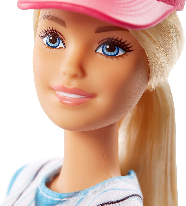 Amazon.es: Barbie - Quiero Ser Jugadora de Béisbol, Muñeca con ...