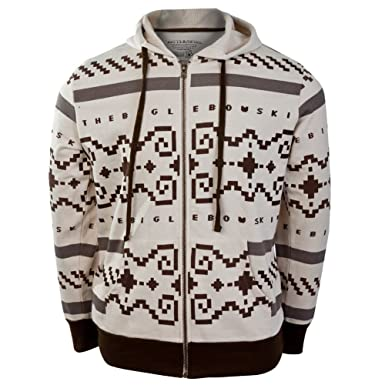 Amazon.com  Big Lebowski - Sweater Zip Premium Costume Hoodie  Clothing 3754ddf24