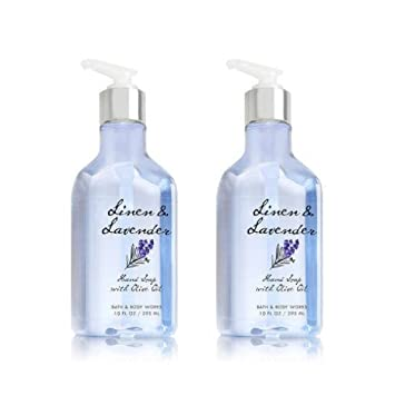 Amazon Com Bath And Body Works Linen Lavender Hand Soap With