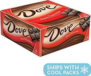 18-Pack Dove Dark Chocolate Singles Size Candy Bar 1.44-oz