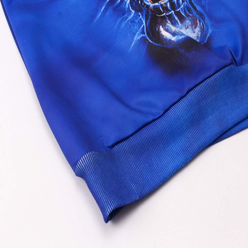 La Sudadera con Capucha Larga Impresa 3D de Las Blusas Casuales de la Manga del o-Cuello de la Manera para Hombre por Internet: Amazon.es: Ropa y accesorios