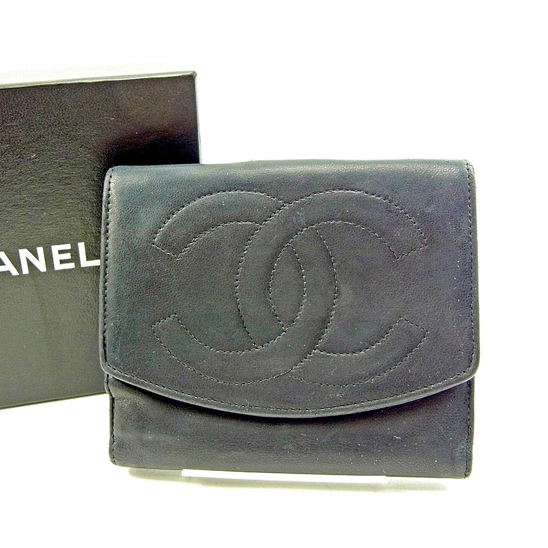 シャネル CHANEL Wホック財布 二つ折り 財布 レディース メンズ 可 ココマーク 中古 S639 B0777LRSVQ