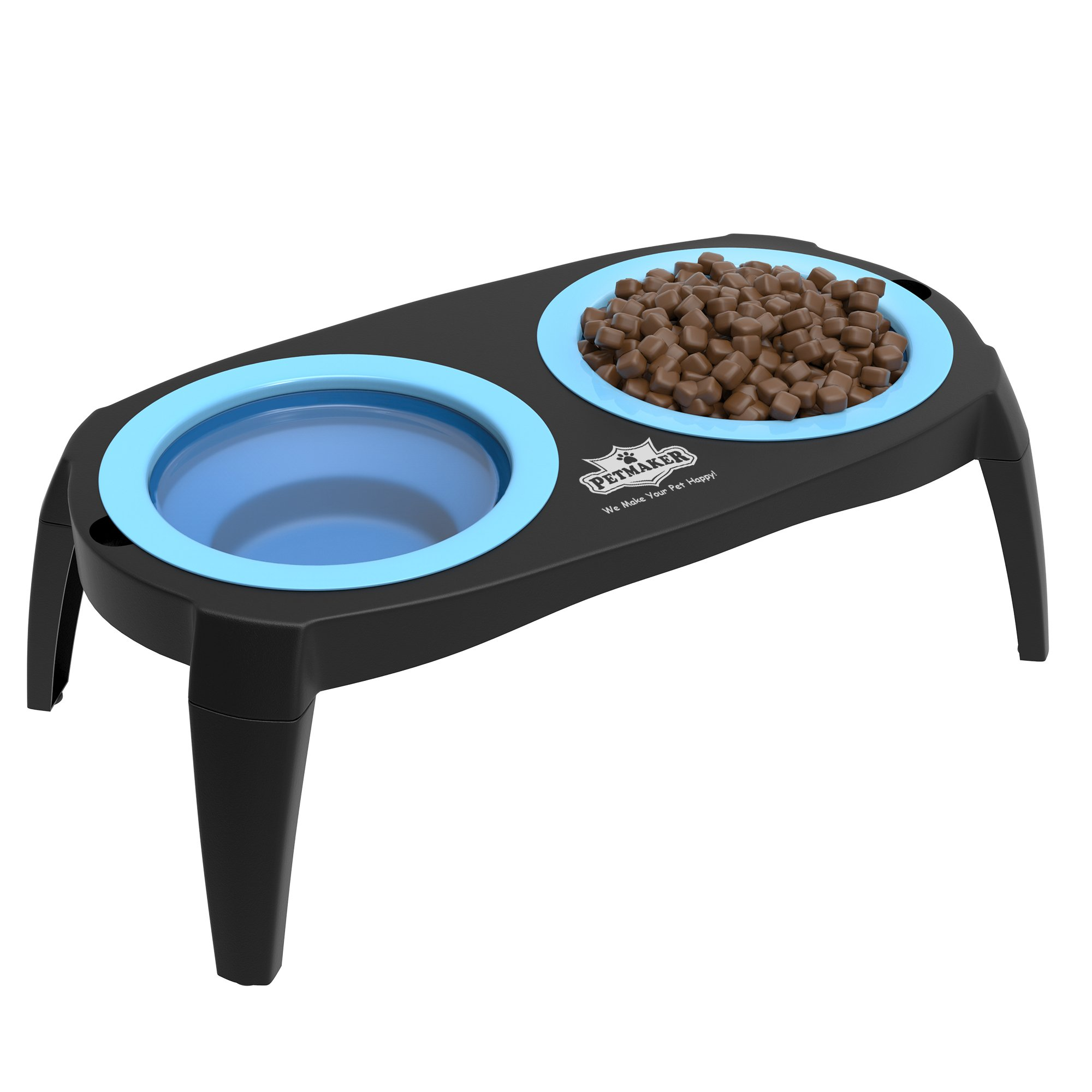 PETMAKER 80-PET6095 Elevated Pet Bowls with Non Slip Stand, 16 oz