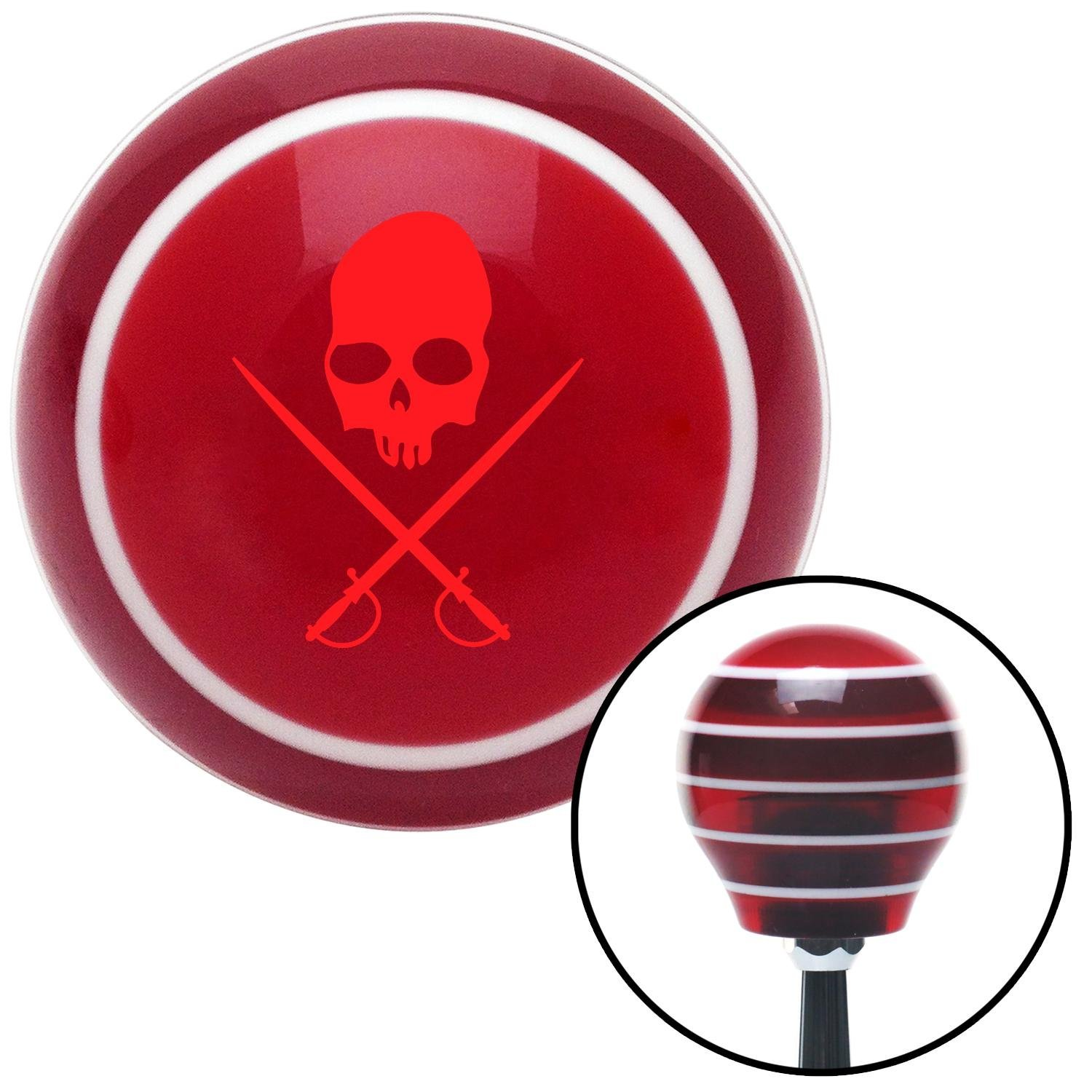 Red Skull /& Swords American Shifter 118479 Red Stripe Shift Knob with M16 x 1.5 Insert