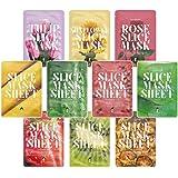 Koco Star Slice Masks con essenze di frutta e estratti di pianta, 10pezzi