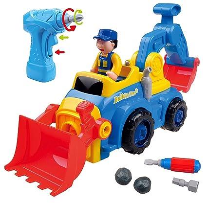 Think Gizmos Juguete Desmontable para los Niños - Construye tu Propio Kit de Juguete para niños y niñas de 3 4 5 6 7 8 + (Camion 4 en 1)