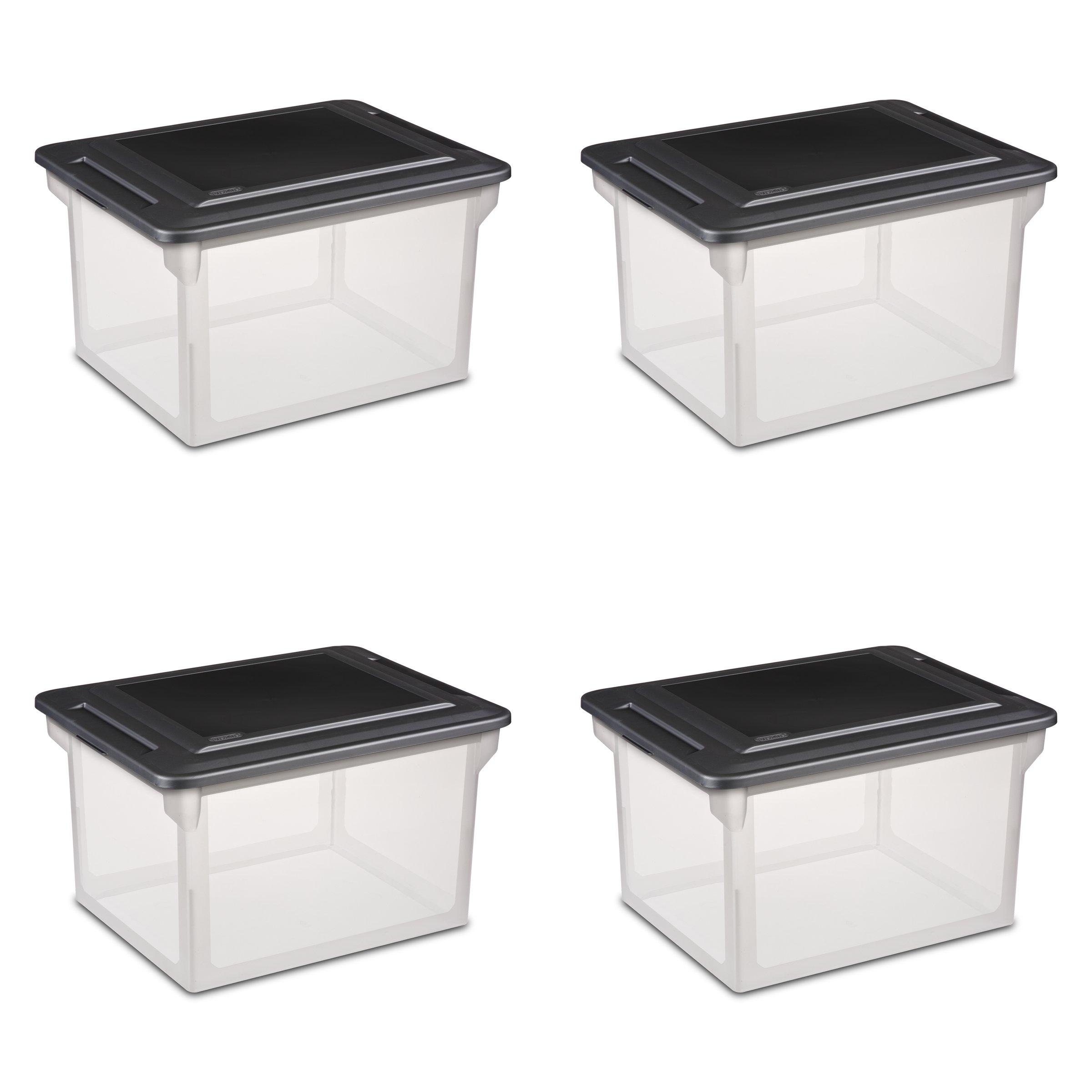 Sterilite 18689004  Storage File Box, 4-Pack by STERILITE