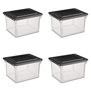 Sterilite 18689004Storage File Box, 4-Pack