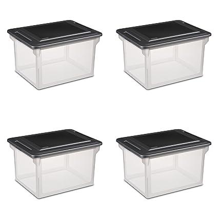 Amazon Com Sterilite 18689004 Storage File Box 4 Pack Home Kitchen
