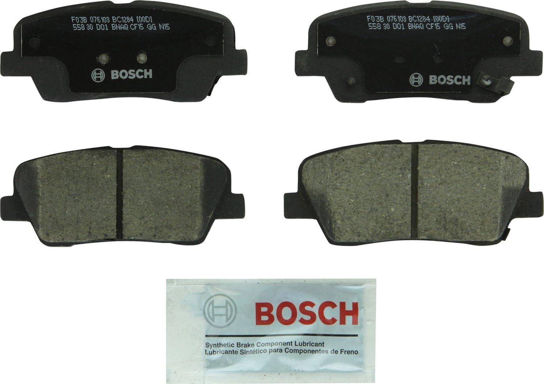 Genesis Sedona; Rear K900 Genesis Coupe; Kia Borrego Bosch BC1284 QuietCast Premium Ceramic Disc Brake Pad Set For Select Genesis G90; Hyundai Entourage Equus