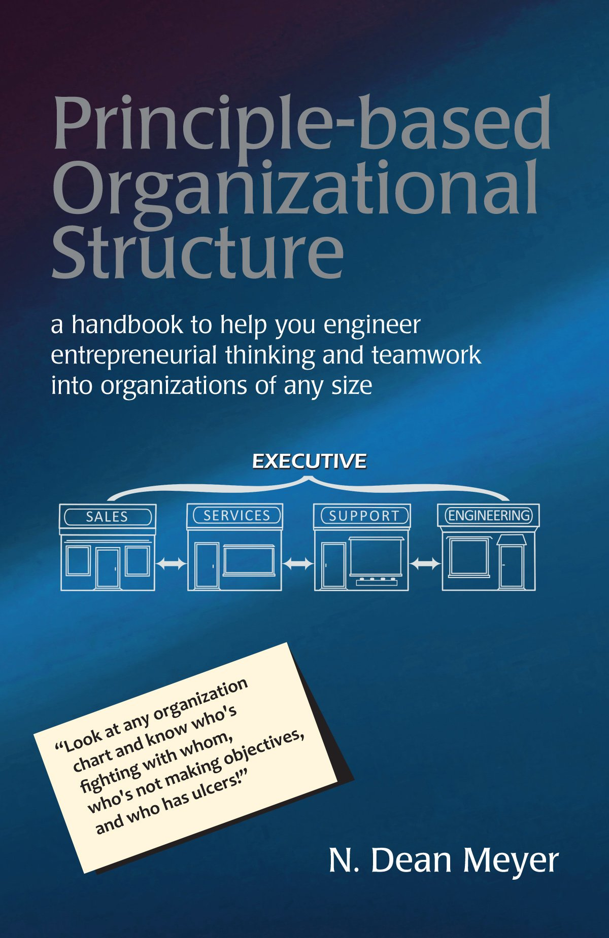 Principle Based Organizational Structure: A Handbook To Help You Engineer  Entrepreneurial Thinking And Teamwork Into Organizations Of Any Size: N.  Dean ...