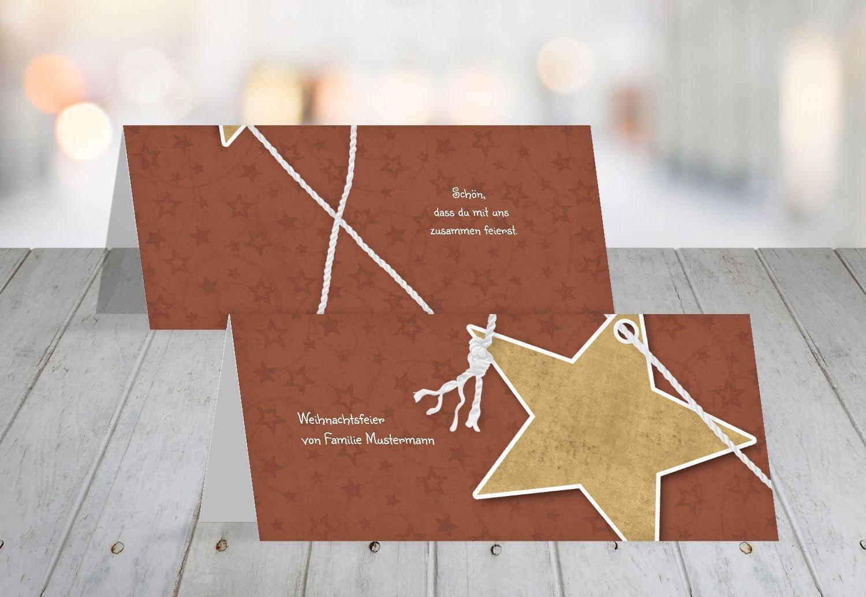 Kartenparadies Tischkarte Weihnachtstisch Tischkarte Sternenschnur, hochwertige Platzkarte für die Weihnachtsfeier (Format  100x44 mm) Farbe  MattGrün B01MZ98RBG | Großartig  | Export  | Outlet Store Online