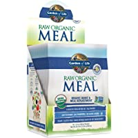 Garden of Life Meal Replacement Vanilla Powder, 10ct Tray, Organic Raw Plant Based Protein Powder, Vegan, Gluten-Free