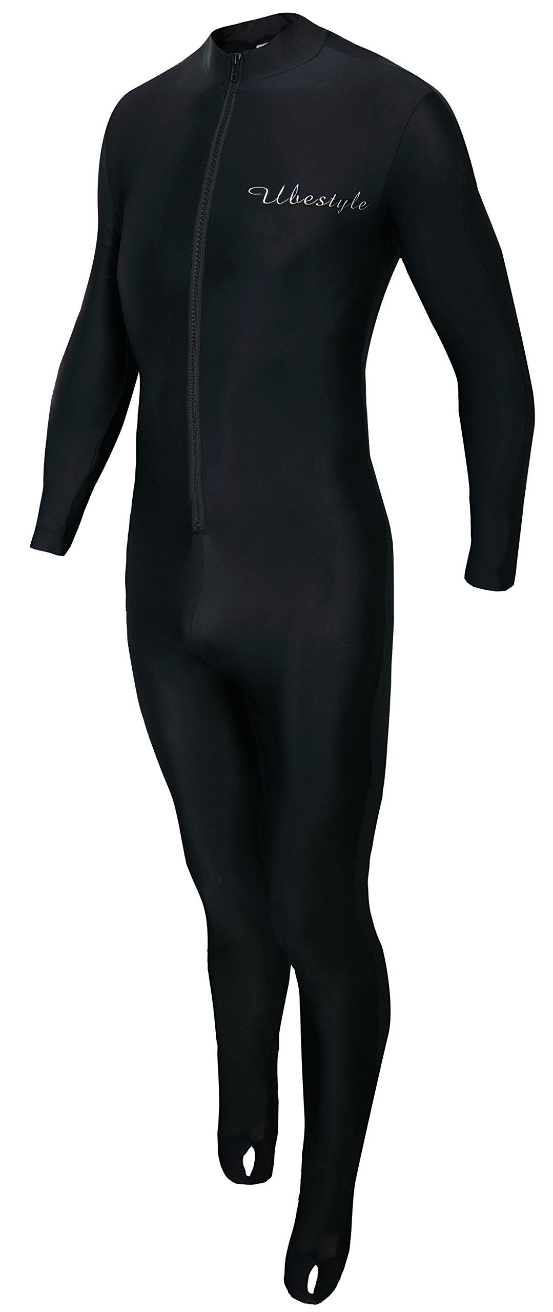 Ubestyle Lycra Full Body Sports Skins - Diving Snorkeling Swimming & Running Exercising (Black, XL)