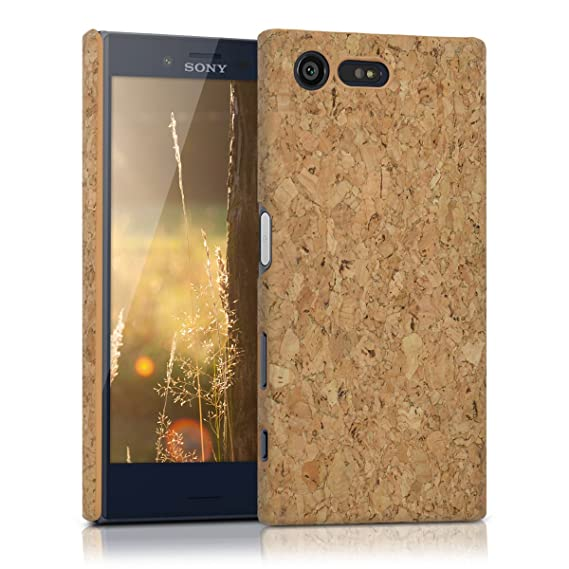 kwmobile Cork case for Sony Xperia X Compact - protective case cover in light brown