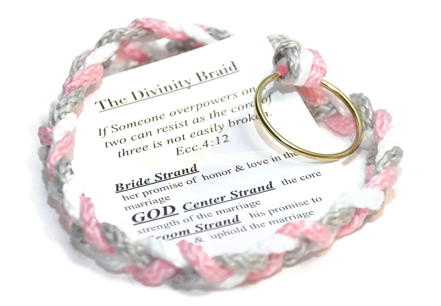 Cord of Three Strands ~ the Divinity Braid ~ Silver Pink Theme