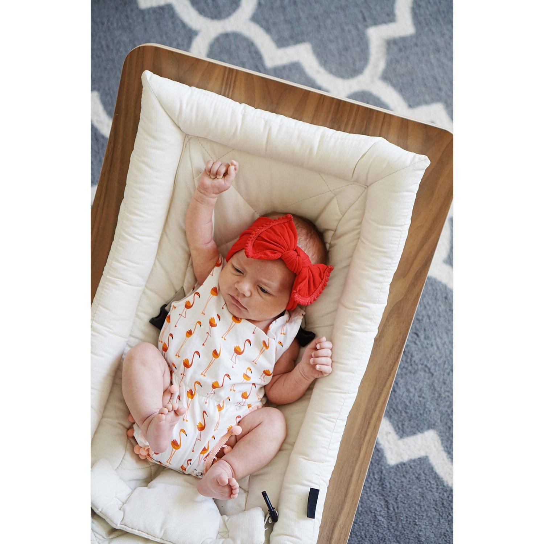 Amazon.com: Diademas para bebé con diseño de lazo de pompón ...