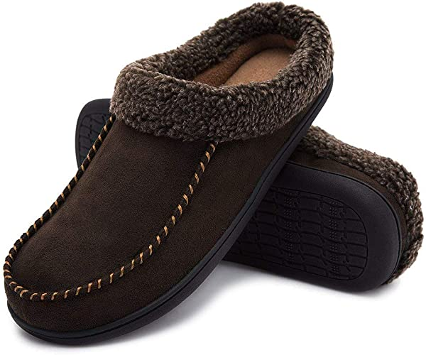 NEW MENS GENTS LIGHT WEIGHT SLIP ON HARD GRIP SOLE COMFORT SLIPPERS SHOES SIZE
