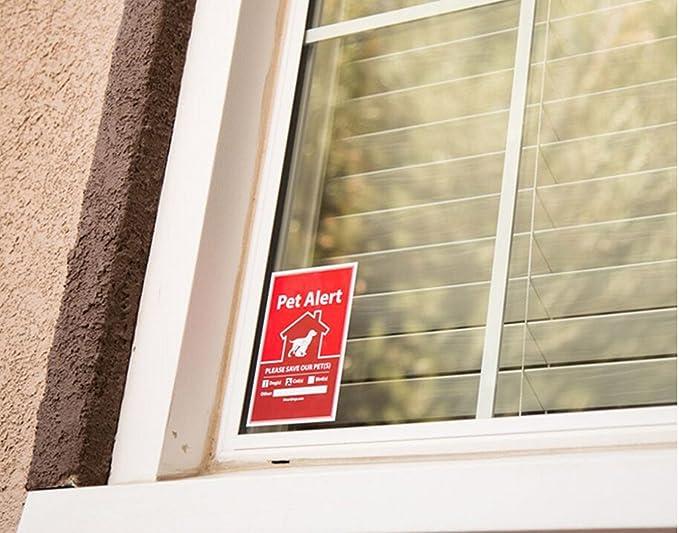 Perro, Gato y PET Sticker de alerta de seguridad rescate ...