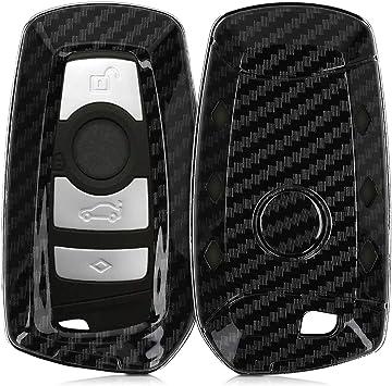 kwmobile Accessoire cl/é de Voiture pour BMW Coque pour Clef de Voiture BMW 3-Bouton en Silicone Noir Keyless Go Uniquement /Étui de Protection Souple