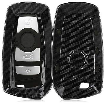 kwmobile Funda para Llave de Coche BMW - Dura Carcasa Protectora para Mando de Llave con Control Remoto de 3 Botones para Coche BMW (Solamente Keyless ...