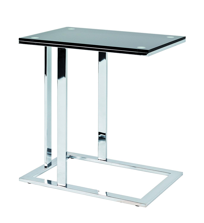 Haku-Möbel Beistelltisch, Chrom-schwarz, 37 x 54 x 58 cm