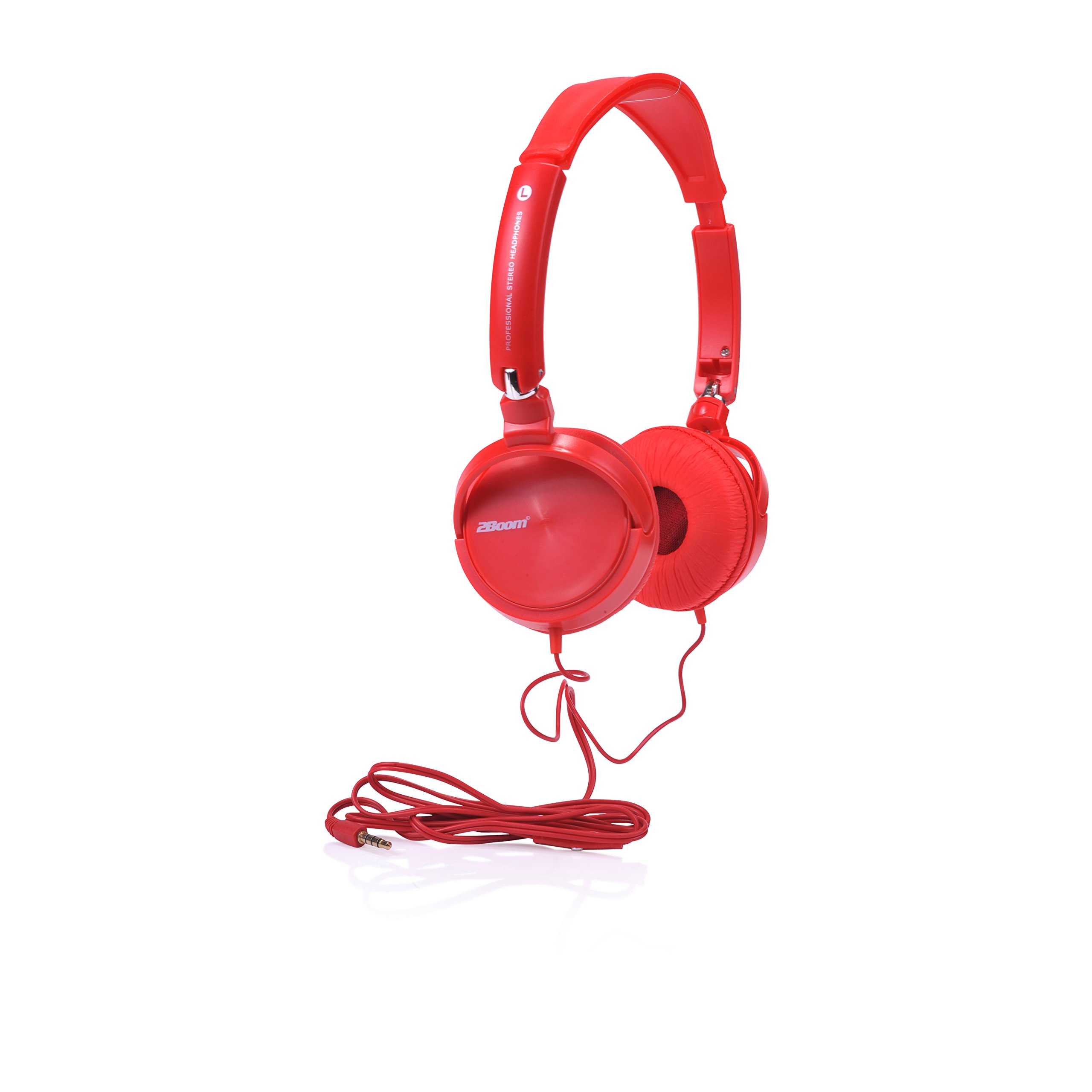 2Boom Dyna Jam Over Ear Hipster Foldable Stereo Wired Headphone Microphone  He