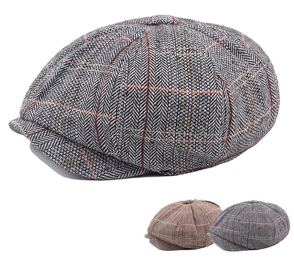 Men s Cotton Flat Ivy Gatsby Newsboy Hunting Hat Octagonal Hat Beret Cap  Grey at Amazon Men s Clothing store  ecdc7381c833