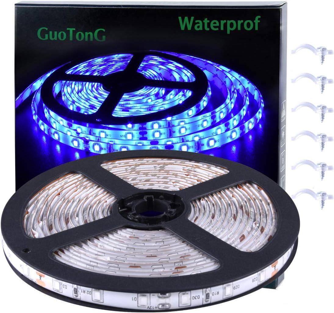 16.4ft 5M RGB Waterproof 300 LED 3528 SMD Flexible Strip Light g 70