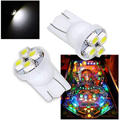 PA 10PCS Pinball Machine LED Light Bulb Accessories #555 T10 4SMD White-6.3V: Toys & Games