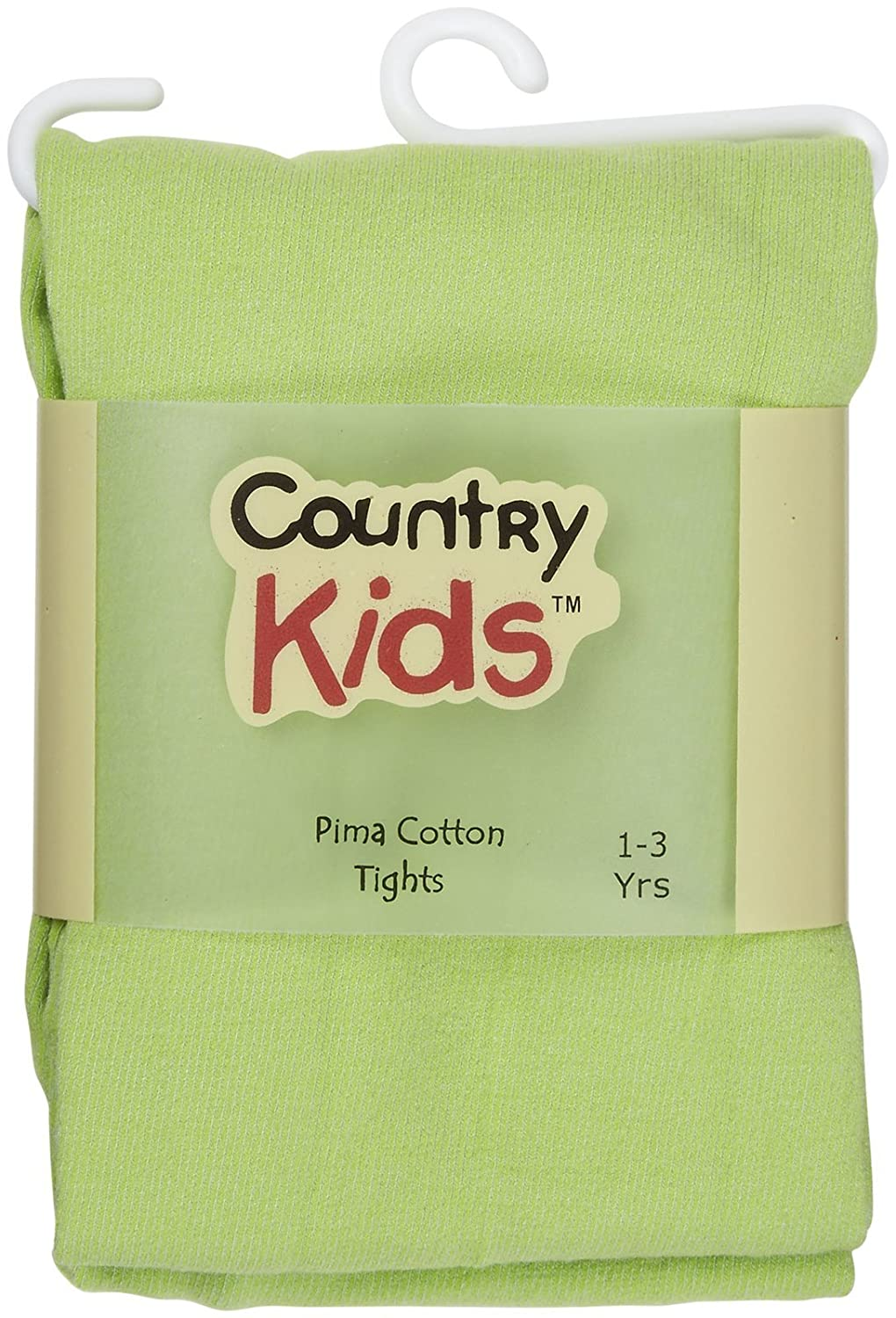 Pack of 2 Country Kids Girls Stretchy Pima Cotton Footed School Dance Pantyhose Tights