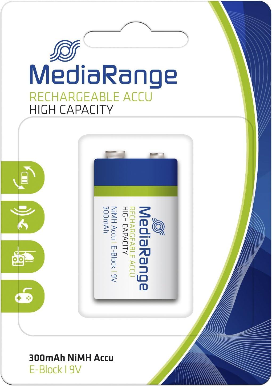E-Block|6HR61//HR22|9V MediaRange wiederaufladbarer Hochleistungs-NiMH-Akku