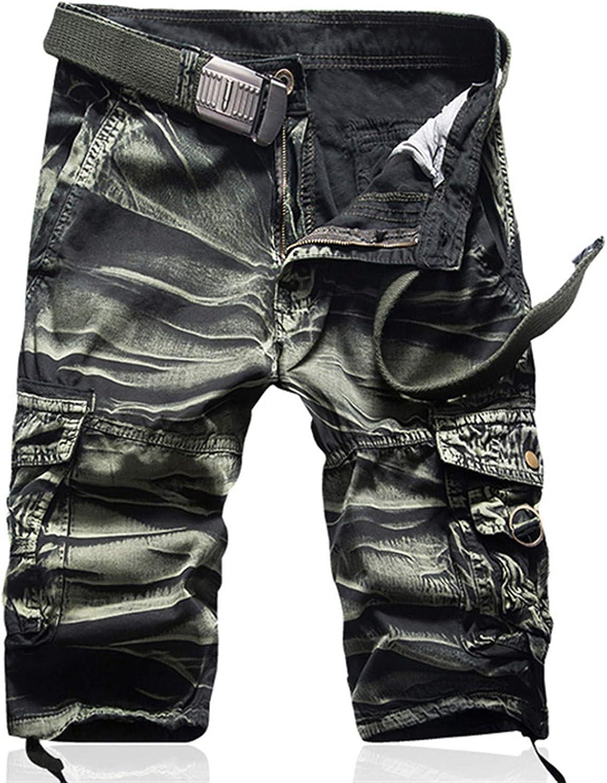 Adam Woolf New Camouflage Camo Cargo Shorts Men Mens Casual Beachwear Shorts Male Loose Work Shorts
