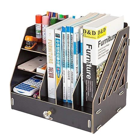 Amazon.com : File holder Simple Bookshelf Multi-Layer Folder ...