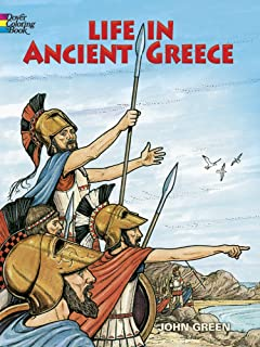 Life In Ancient Greece Coloring Book Dover History