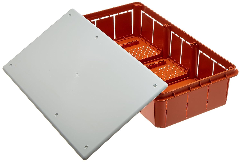 Electraline 60413 Distribution Box glatt fü r die Unterputz-Montage in Mauerwerk 294 x 152 mm