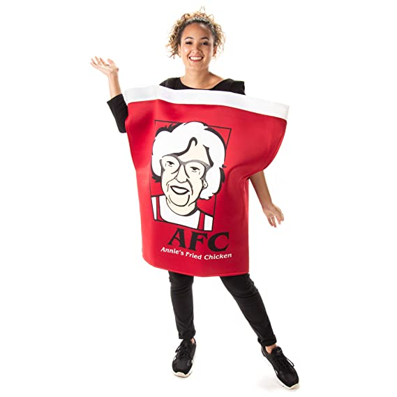 Food Halloween Costumes.Finger Lickin Chicken Bucket Halloween Costume One Size Funny Food Costumes Amazon In Clothing Accessories