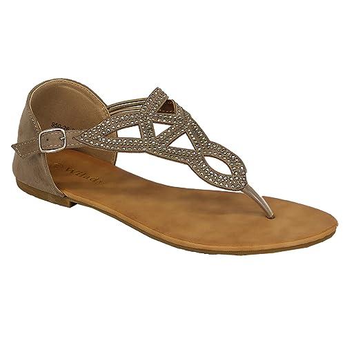Donna Sandali con strass donna basse spalline Sandali infradito borchie  scarpe da Festa Estate  Amazon.it  Scarpe e borse ec2ad81be2c