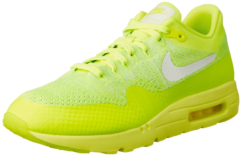 Jaune (Volt   blanc-electric vert) Nike Air Max 1 Ultra Flyknit, Chaussures de Running Entrainement Homme 40.5 EU