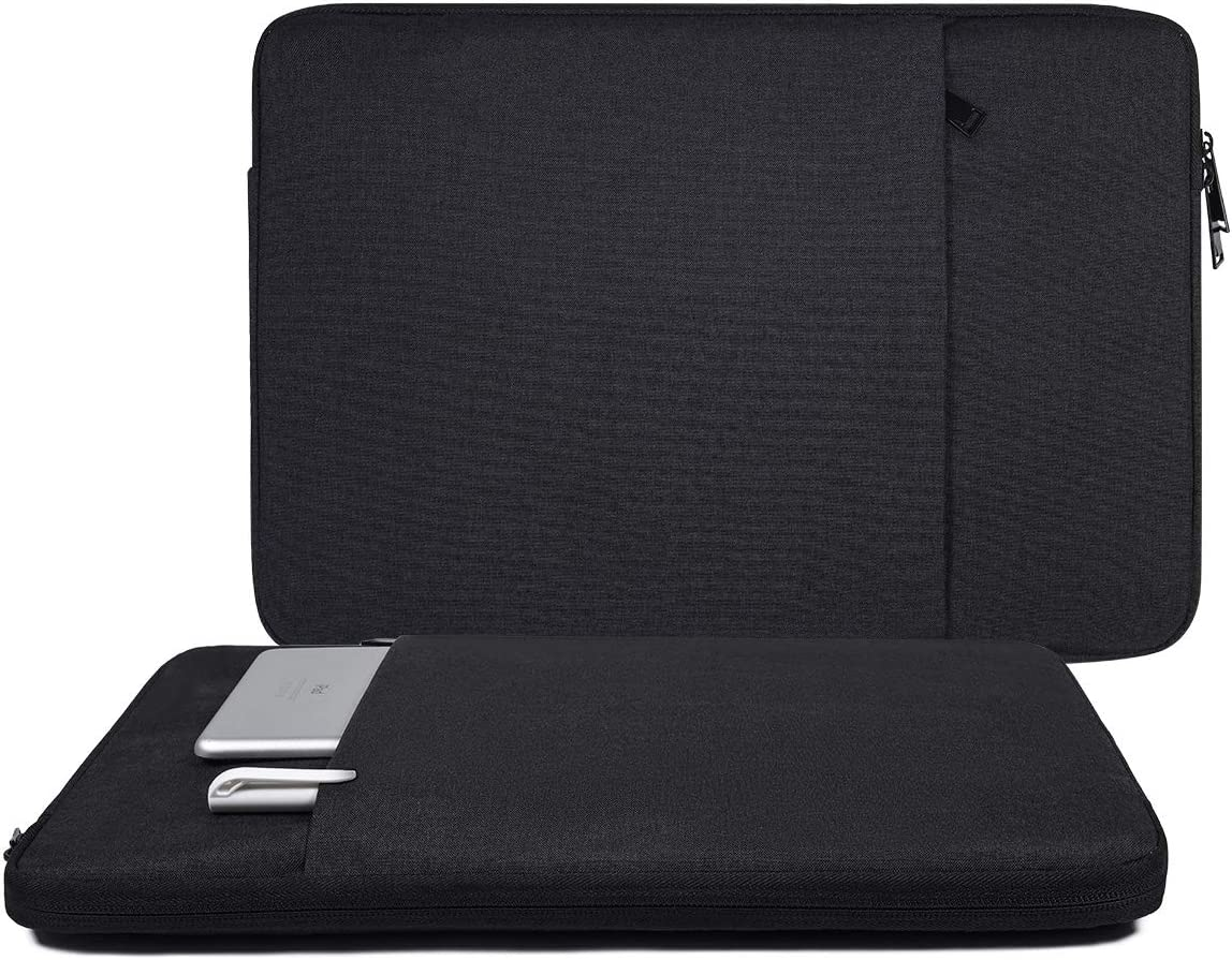 13-13.3 Inch Laptop Tablet Sleeve Case Fit Dell XPS 13 7390 9380/Dell Inspiron 13 7000/Dell Latitude 13,Surface Book 2/Surface Laptop 3, Asus Chromebook 13.3/MacBook Air 13 A1932(Black)
