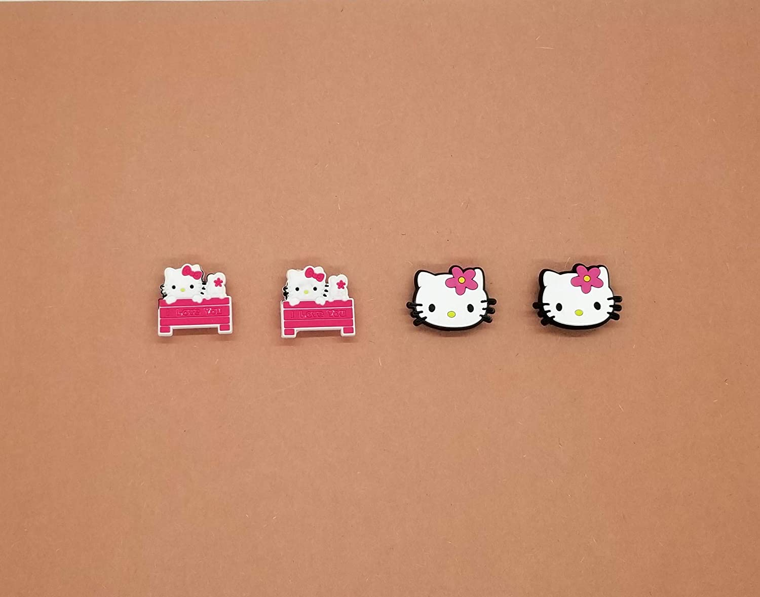 Hello Kitty Shoe Charms Wristband Charms Shoe Lace Adapter Charms Generic Handmade Set of 4