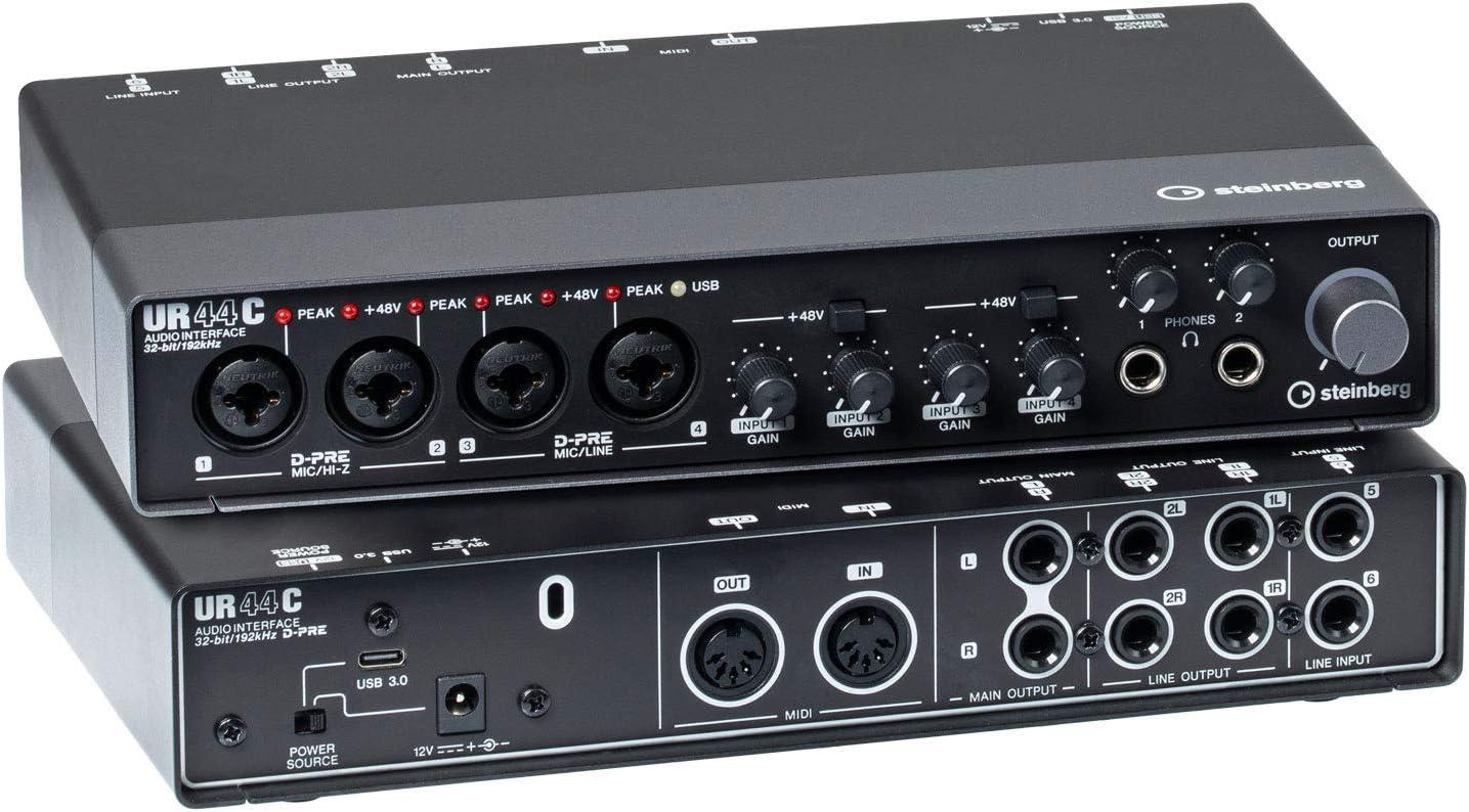 Steinberg UR44C EU - USB 3 Audio Interface incl MIDI I/O & iPad  connectivity: Amazon.de: Musikinstrumente