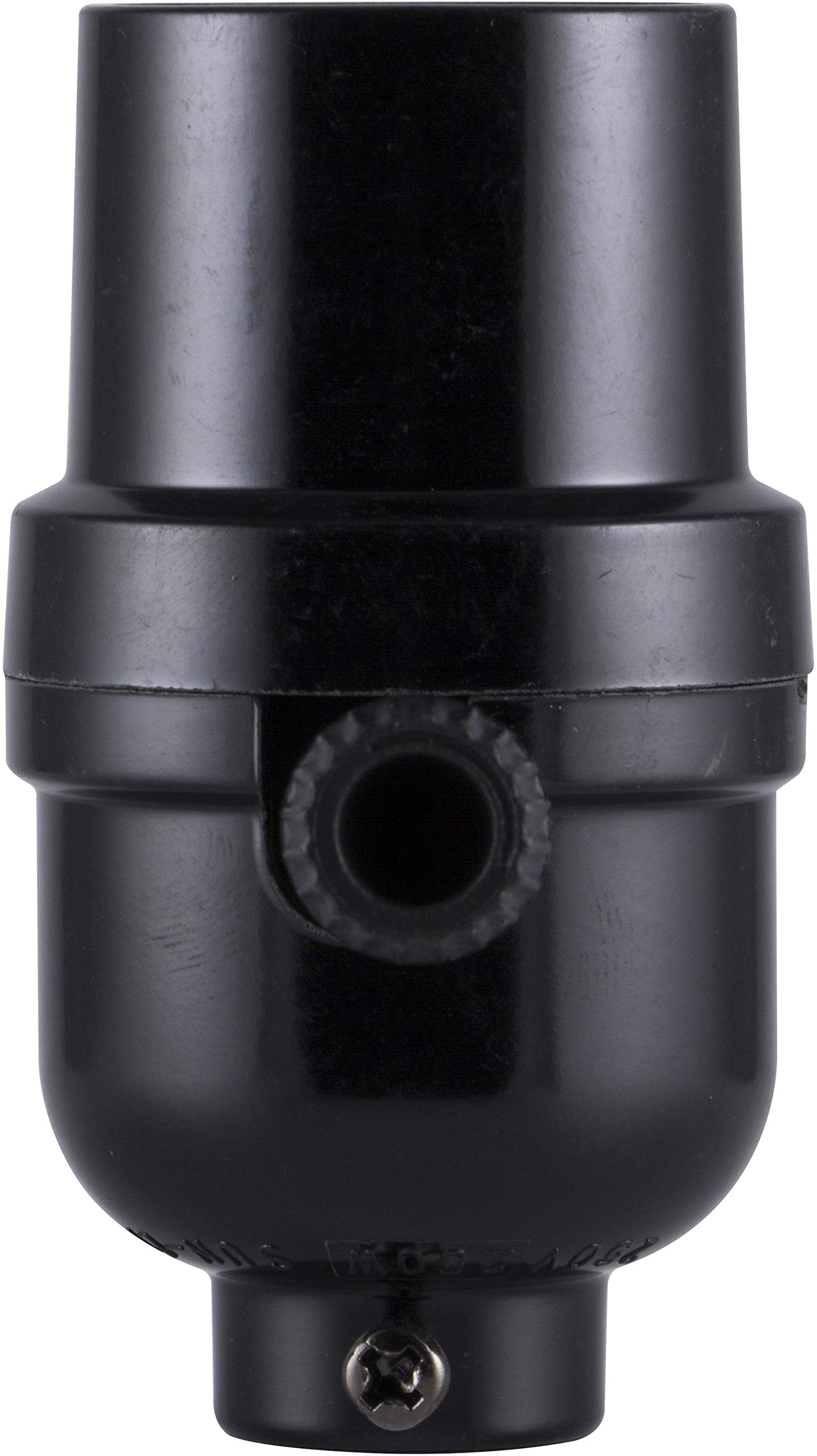 GE 3-Way Socket, Turn for Low, Medium and High Settings, for Floor and Table Lamps, DIY Project, UL Listed, Black, 18275