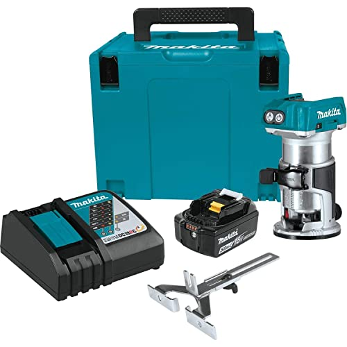 Makita XTR01T8J 18V LXT Lithium-Ion Brushless Cordless Compact Router Starter Kit 5.0Ah
