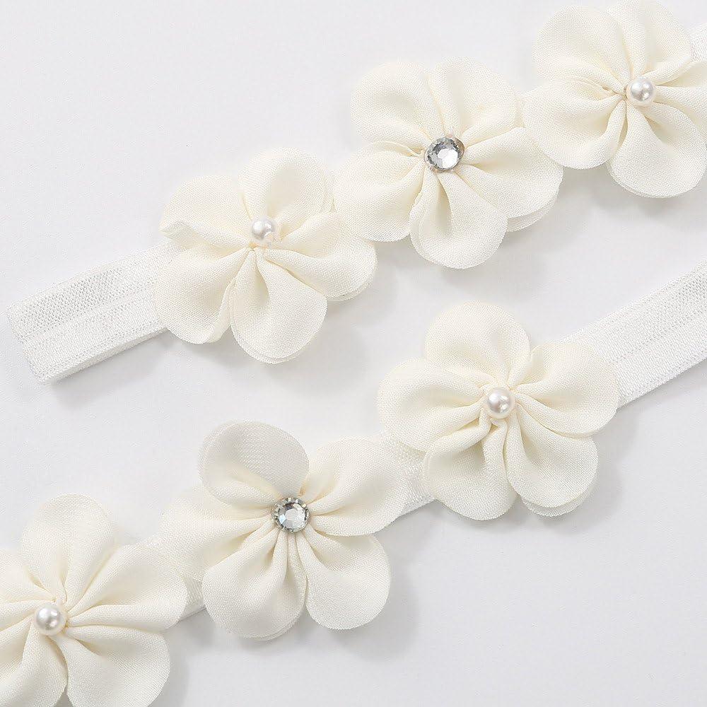 Kimloog Baby Girls Princess Flower Cotton Cloth Crib Shoes Soft Sole First Walker Shoes